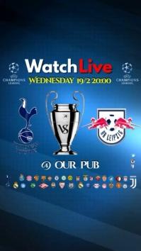 Champions League match video Digitale Vertoning (9:16) template
