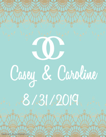 Chanel Inspired Lace Save the Date