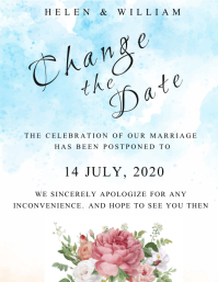 Change the date Wedding Invite Flyer