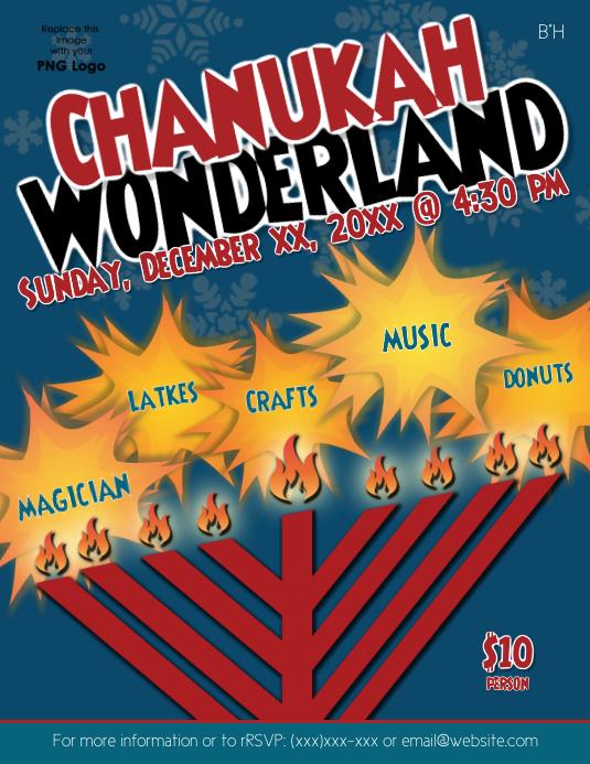 Chanukah Wonderland Flyer (US-Letter) template