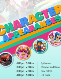 Character Appearance Schedule