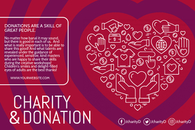 Charity and Donation Poster Template