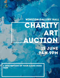 Charity art auction template 2020 Flyer (US Letter)