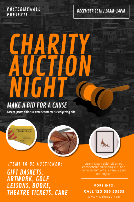 Charity Auction Flyer Template Poster