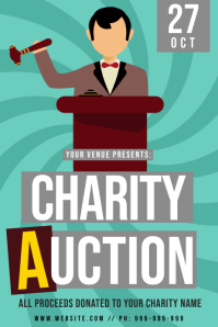 Charity Auction Poster