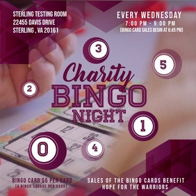 Charity Bingo Night Square Ad