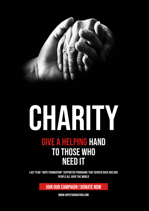 Charity campaign flyer A4 template