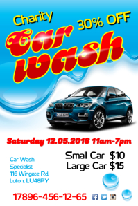 Charity Car Wash Flyer