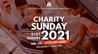 charity church flyer Pantalla Digital (16:9) template