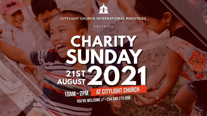 charity church flyer Digitalt display (16:9) template