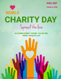 Charity day,charity,donation,event Flyer (US Letter) template