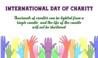 Charity Day Etiqueta template