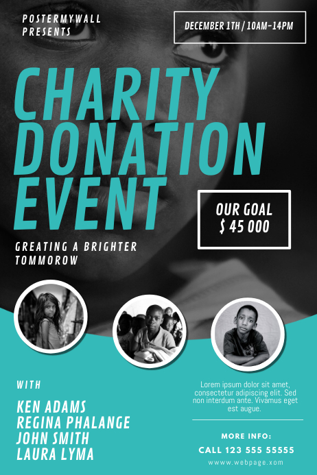 Charity Donation Event Flyer Design mTemplate