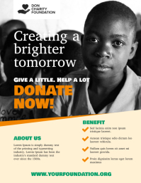 charity donation flyer poster Ulotka (US Letter) template