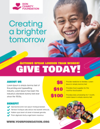 Charity Donation Flyer Poster Template