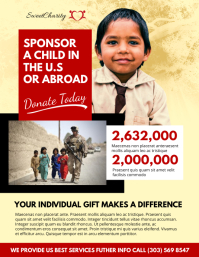 Charity Donation Flyer  Donation Flyer Template