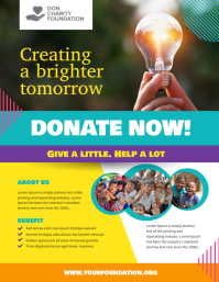 Charity Donation Fundraising Flyer Poster Template