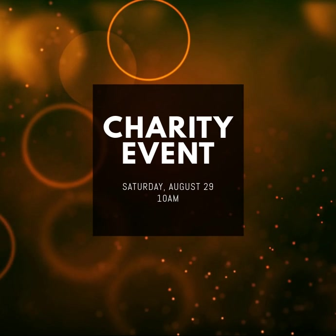 Charity Event Instagram Post