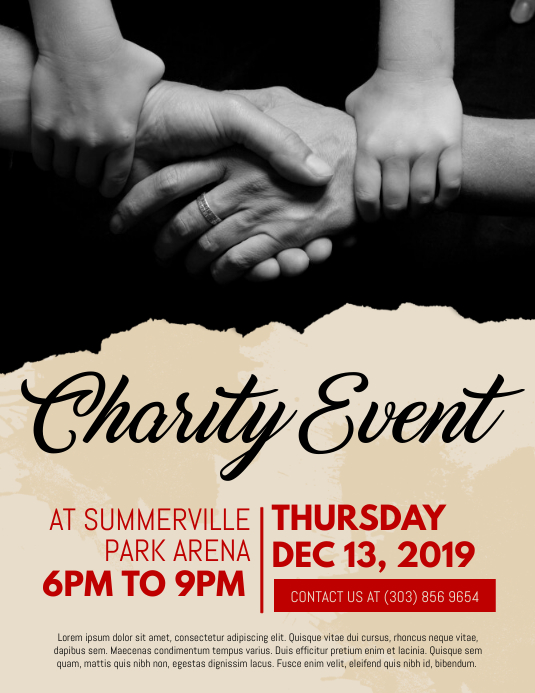 charity event flyer templates free