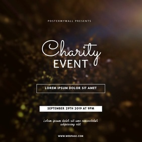 Charity Event Video Template instagram Square (1:1)