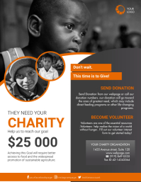 Charity Flyer Template for Free Pamflet (Letter AS)