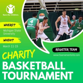Charity Fundraiser Sport Event Tournament Square Video