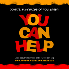 Charity Fundraising Donation Drive Square Video