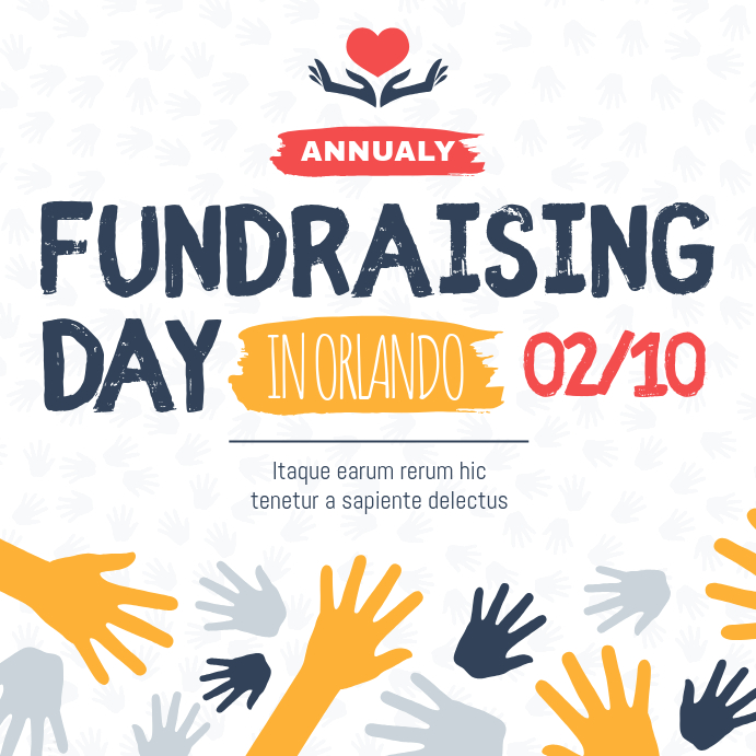 Charity Fundraising Drive Instagram Post template
