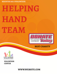 Charity Fundraising Flyer Design Template