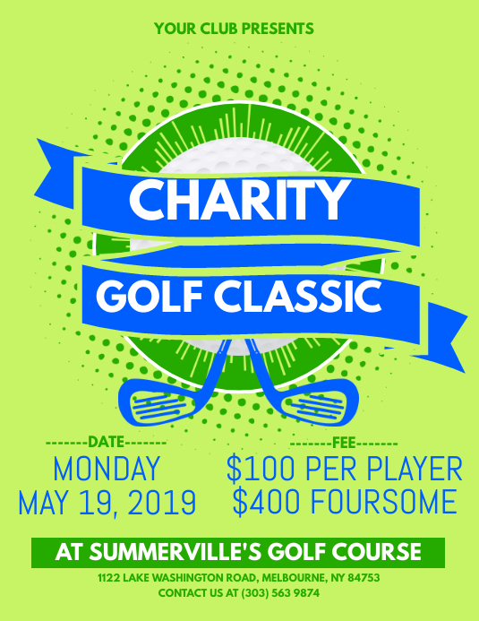Charity Golf Classic Flyer