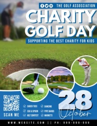 Charity Golf Day Video Poster Ulotka (US Letter) template