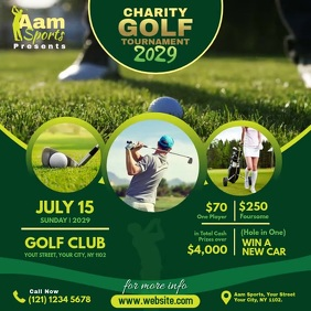 Charity Golf Tournament Ad โพสต์บน Instagram template