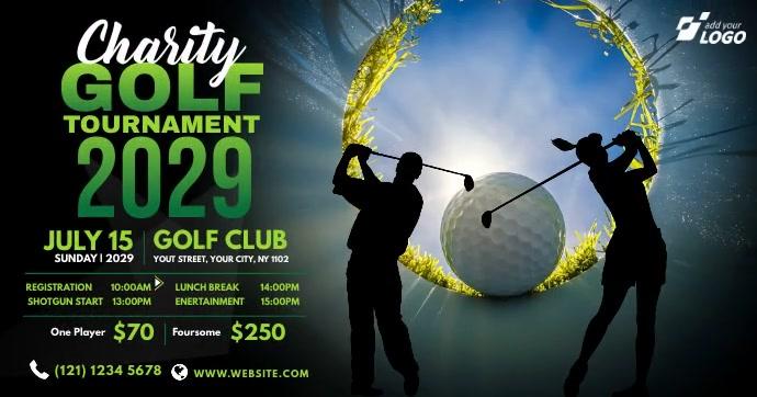 Charity Golf Tournament Advert Facebook Shared Image template