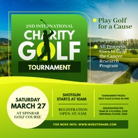 Charity Golf Tournament Publicação no Instagram template