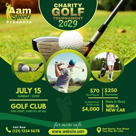 Charity Golf Tournament Publicación de Instagram template