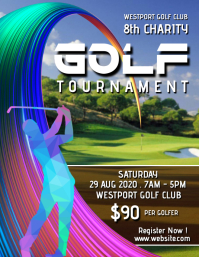 Charity golf tournament design Flyer (US Letter) template