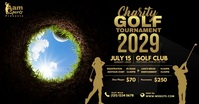 Charity Golf Tournament Facebook Shared Image template