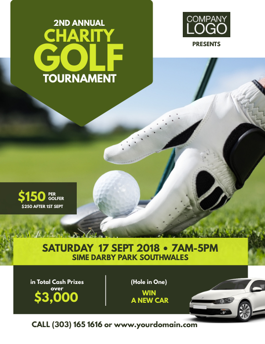 Charity Golf Tournament Flyer Poster Ulotka (US Letter) template