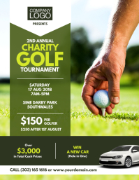 Charity Golf Tournament Flyer Poster