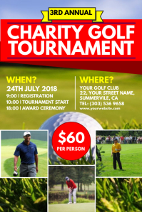 Charity Golf Tournament Poster · GOLF · Golf Tournament Flyer Template