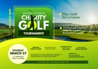 Charity Golf Tournament Postcard Poskaart template
