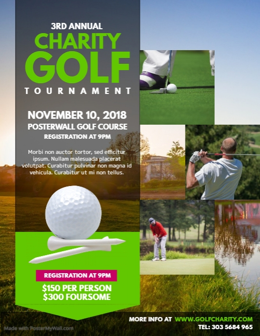 Charity Golf Tournament Flyer Template Postermywall