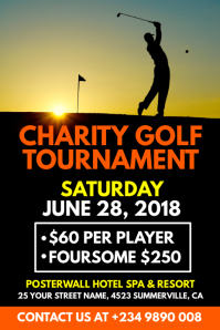 Charity Golf Tournament Poster Template