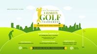Charity Golf Tournament Twitter Post template