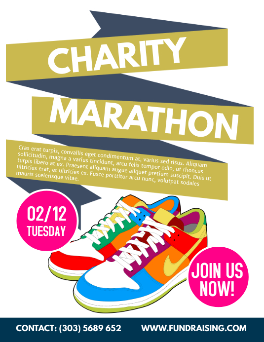 charity Marathon Flyer