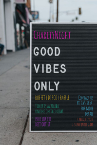 Charity Night Flyer