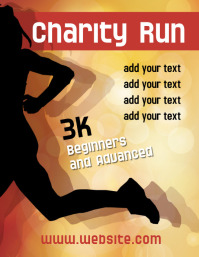 Charity Run 3K flyer