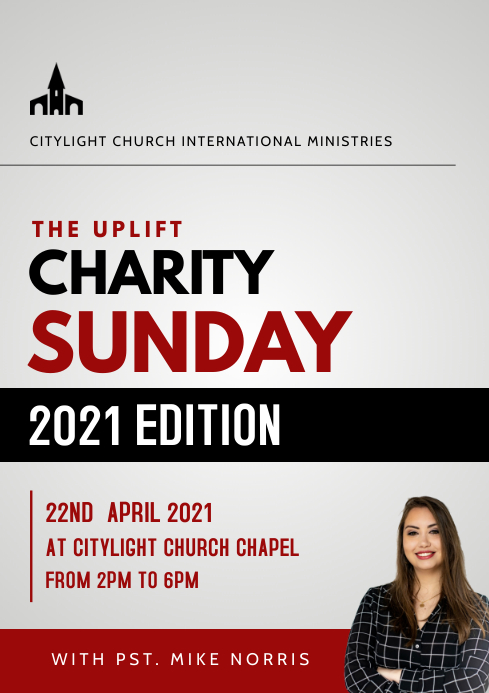CHARITY SUNDAY church flyer A3 template