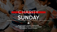 charity sunday church flyer Tampilan Digital (16:9) template