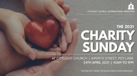 CHARITY SUNDAY church flyer 数字显示屏 (16:9) template